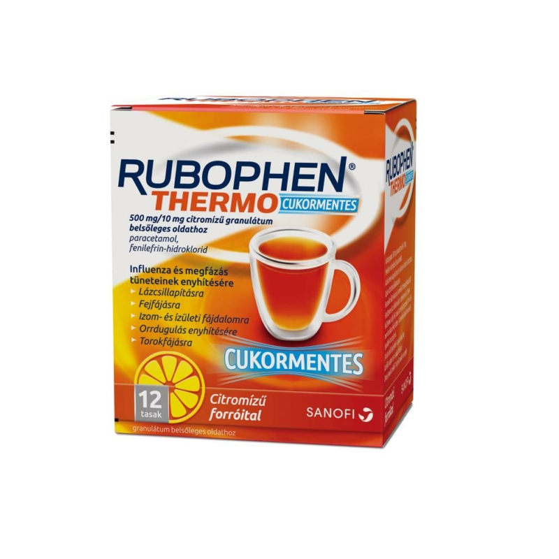 RUBOPHEN THERMO 500MG/10MG CUKORMENT.CITROM. 12X